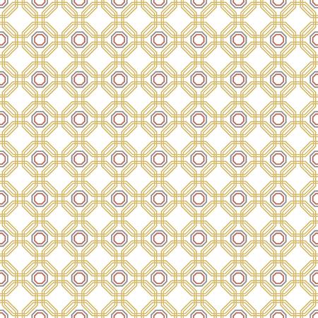 octagonal: Geometric fine abstract vector golden octagonal background. Geometric abstract ornament. Seamless modern pattern Vectores