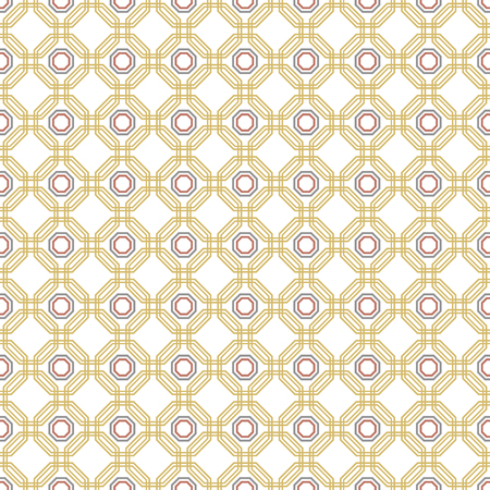 Geometric fine abstract vector golden octagonal background. Geometric abstract ornament. Seamless modern pattern Illustration