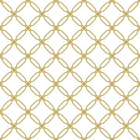 Seamless vector golden ornament in arabian style. Geometric abstract background. Pattern for wallpapers and backgrounds Illustration