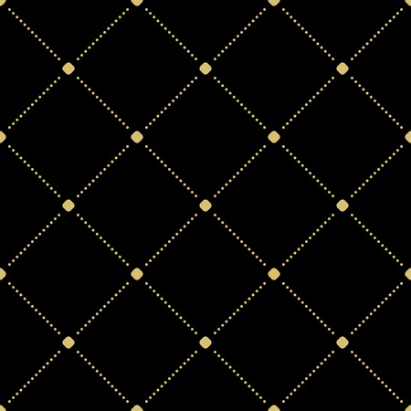 Geometric black and golden dotted vector pattern. Seamless abstract modern texture for wallpapers and backgrounds