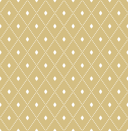 Geometric dotted vector golden pattern. Seamless abstract modern texture for wallpapers and backgrounds Çizim