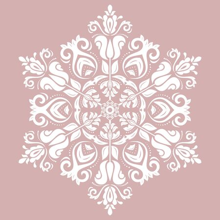 royal: Elegant white ornament in classic style. Abstract traditional pattern with oriental elements, Classic vintage pattern