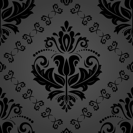 Orient vector classic dark pattern. Seamless abstract background with repeating elements. Orient background