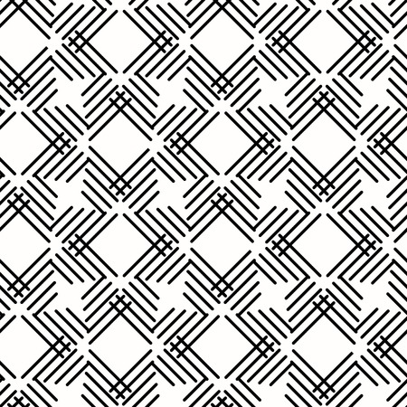 Seamless background for your designs. Modern vector black and white ornament with diagonal lines. Geometric abstract pattern