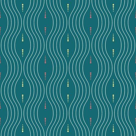 Seamless vector colored wavy ornament. Modern background. Geometric modern pattern