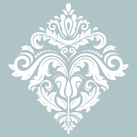 Elegant vectorornament in klassieke stijl. Abstract traditioneel wit patroon met oosterse elementen. Klassiek vintage patroon