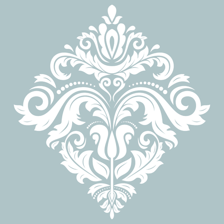 Elegant vector ornament in classic style. Abstract traditional white pattern with oriental elements. Classic vintage pattern