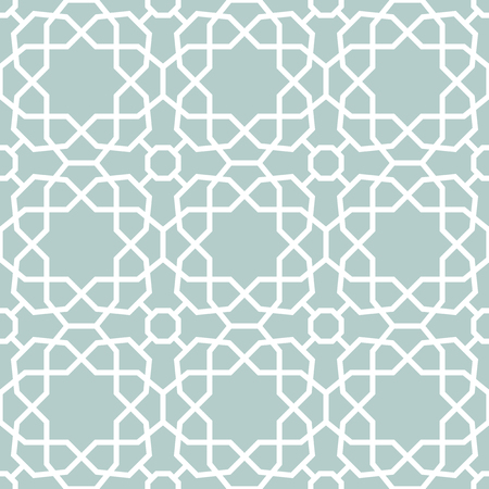 Seamless background for your designs. Modern vector ornament. Geometric abstract light blue and white pattern