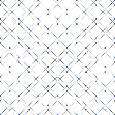 Geometric dotted vector light pattern. Seamless abstract modern texture for wallpapers and backgrounds Illustration