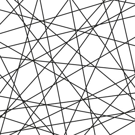 Black and white background for your designs. Modern black and white vector ornament. Geometric abstract pattern Illustration