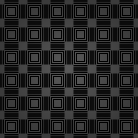 Seamless background for your designs. Modern vector ornament of square. Geometric abstract dark pattern