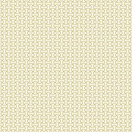 Seamless vector ornament. Modern golden background. Geometric modern pattern