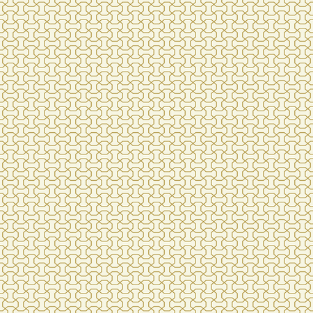 Seamless vector ornament. Modern golden background. Geometric modern pattern