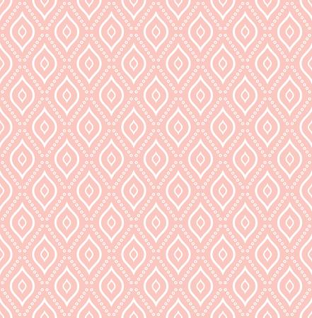 Seamless pink and white ornament. Modern background. Geometric modern pattern 版權商用圖片