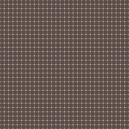 Geometric vector grid. Seamless golden abstract pattern. Modern background