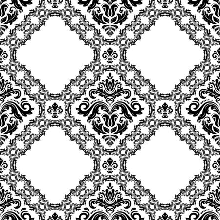 Orient classic black and white pattern. Seamless abstract background with repeating elements. Orient background 写真素材 - 128766837