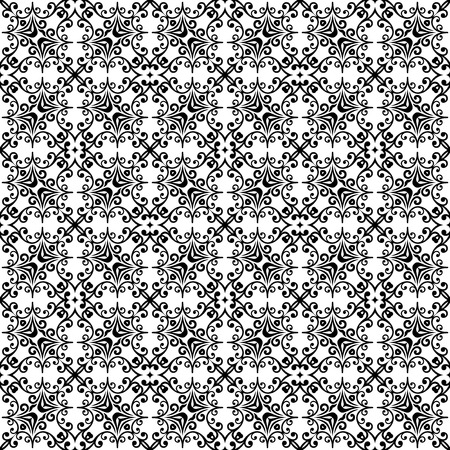 Orient classic pattern. Seamless abstract background with repeating elements. Orient black and white background