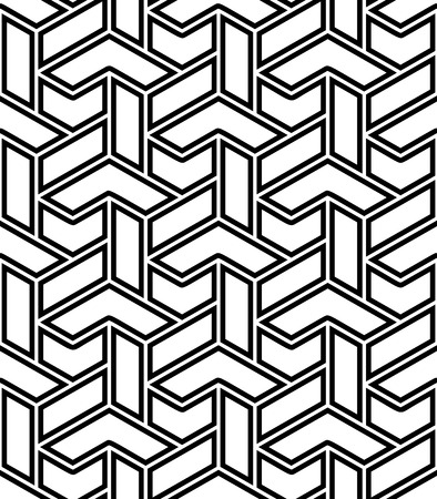 Seamless background for your designs. Modern vector ornament. Geometric abstract black and white pattern Illustration