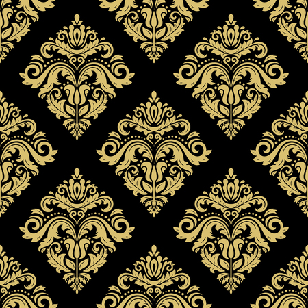 Classic seamless vector golden pattern. Damask orient ornament. Classic vintage background. Orient ornament for fabric, wallpaper and packaging