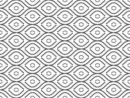 Seamless vector black and white dotted ornament. Modern background. Geometric modern pattern