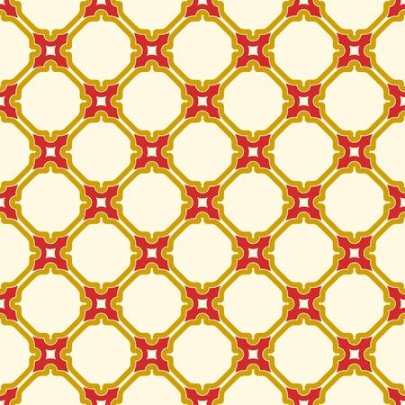 Ornement rouge et or vectorielle continue dans un style arabe. Abstrait géométrique. Motif pour fonds d'écran et arrière-plans