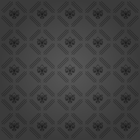 Geometric dotted vector dark pattern. Seamless abstract modern texture for wallpapers and backgrounds Vettoriali