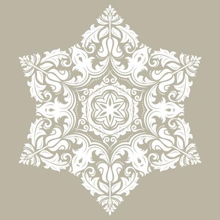 Ornement de vecteur vintage élégant dans un style classique. Abstrait motif blanc traditionnel avec des éléments orientaux. Motif vintage classique