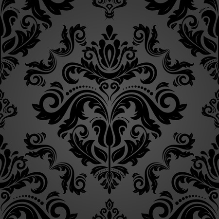 Orient vector classic pattern. Seamless abstract background with vintage black elements. Orient background. Ornament for wallpaper and packaging