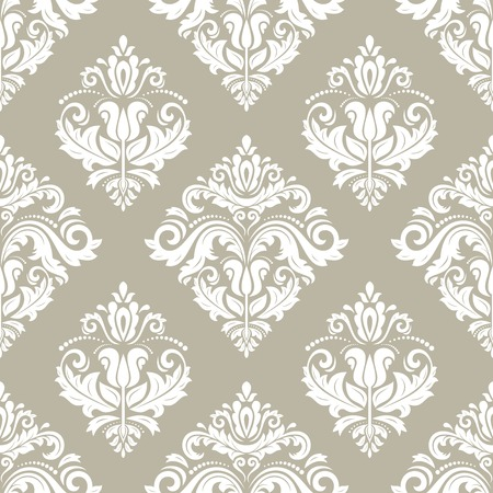 Classic seamless vector pattern. Damask orient ornament. Classic vintage light background. Orient ornament for fabric, wallpaper and packaging