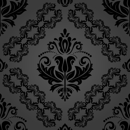 Classic seamless vector dark pattern. Damask orient ornament. Classic vintage background. Orient ornament for fabric, wallpaper and packaging