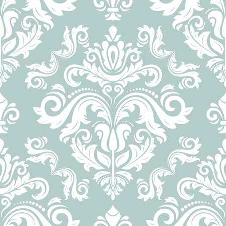 Orient vector classic pattern. Seamless abstract background with vintage elements. Orient background. White ornament for wallpaper and packaging Illustration