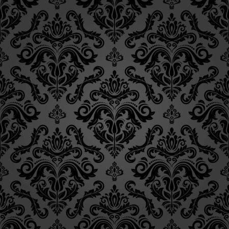 Orient classic pattern. Seamless abstract background with vintage elements. Orient dark background