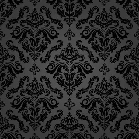 Orient klasyczny wzór. Bezszwowe tło z elementami vintage. Zorientuj ciemne tło