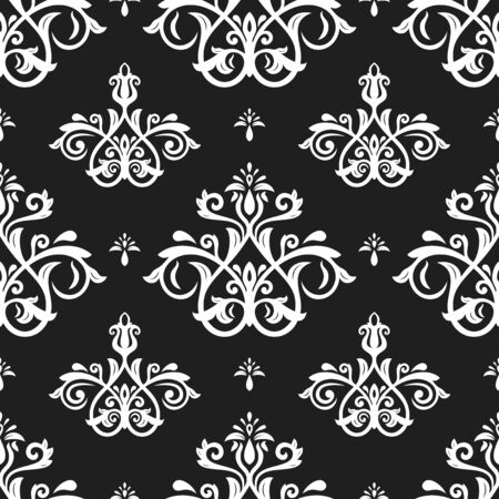 Orient vector classic black and white pattern. Seamless abstract background with vintage elements. Orient background. Ornament for wallpaper and packaging