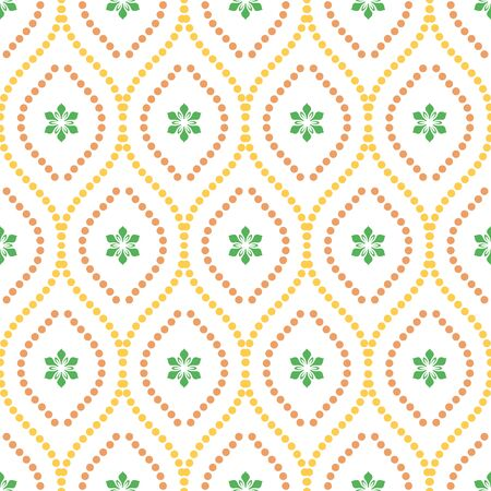 Seamless vector ornament. Modern background. Geometric modern dotted colored pattern