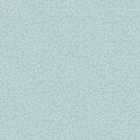 Seamless vector background with random elements. Abstract ornament. Dotted abstract pattern whith white bubbles