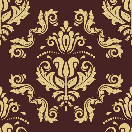 Orient vector classic golden pattern. Seamless abstract background with vintage elements. Orient background. Ornament for wallpaper and packaging