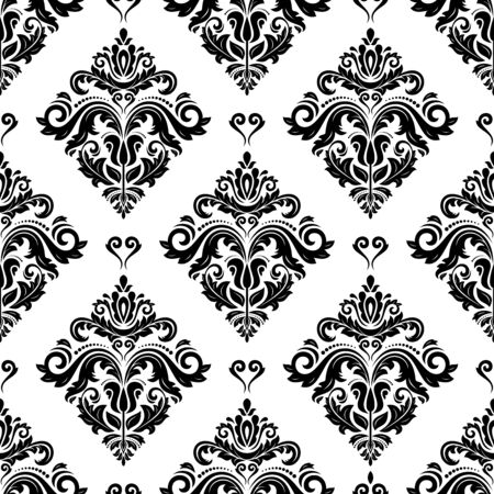 Orient vector classic pattern. Seamless abstract background with black and white vintage elements. Orient background. Ornament for wallpaper and packaging