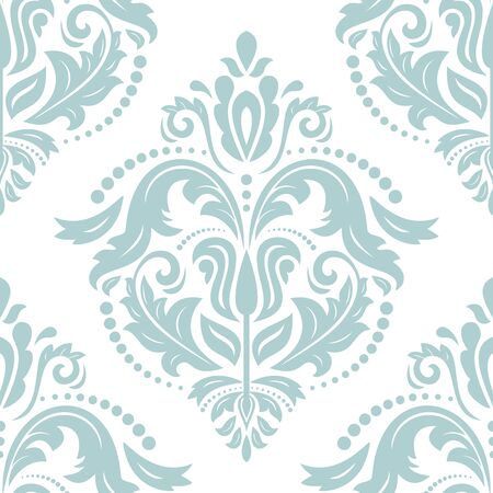 Orient vector classic pattern. Seamless abstract background with vintage light blue elements. Orient background. Ornament for wallpaper and packaging