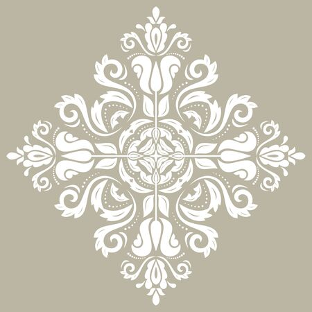 Elegant vintage vector ornament in classic style. Abstract traditional pattern with oriental white elements. Classic vintage pattern  イラスト・ベクター素材