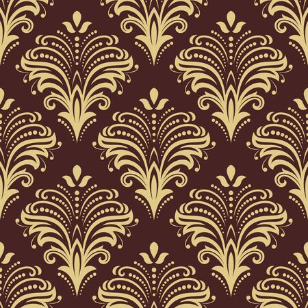 Orient vector classic pattern. Seamless abstract background with golden vintage elements. Orient background. Ornament for wallpaper and packaging  イラスト・ベクター素材