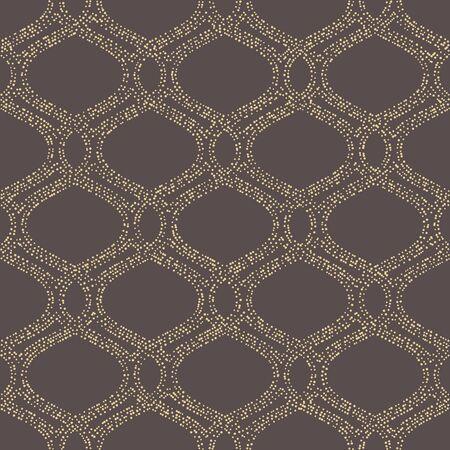 Seamless vector wavy dotted golden ornament. Modern background. Geometric modern pattern  イラスト・ベクター素材