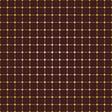 Seamless geometric vector pattern. Modern ornament with stars. Geometric abstract brown and golden pattern 写真素材 - 128772723