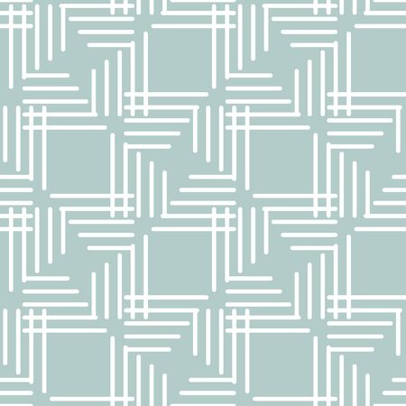 Seamless light blue and white background for your designs. Modern vector white ornament. Geometric abstract pattern