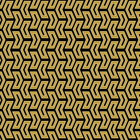 Geometric vector pattern with golden arrows. Geometric modern ornament. Seamless abstract background  イラスト・ベクター素材