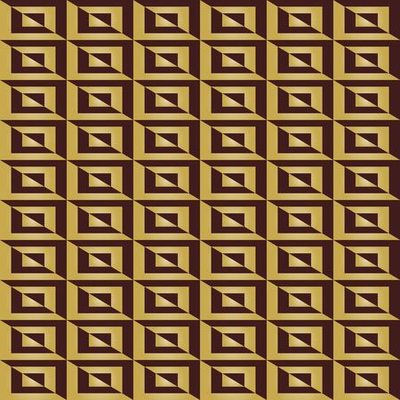 Seamless background for your designs. Modern vector ornament. Geometric abstract black and golden pattern