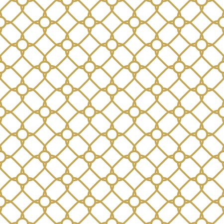 Seamless vector ornament in arabian style. Geometric abstract background. Golden pattern for wallpapers and backgrounds Ilustracja