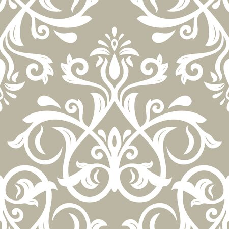Orient vector classic pattern. Seamless abstract background with vintage elements. Orient beige and white background. Ornament for wallpaper and packaging