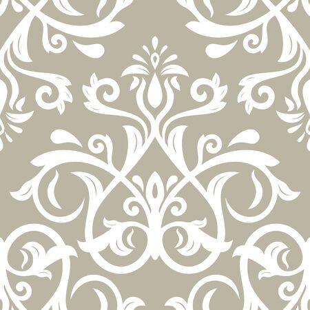 Orientar el patrón clásico del vector. Fondo abstracto sin fisuras con elementos vintage. Oriente fondo beige y blanco. Adorno para papel tapiz y embalaje.