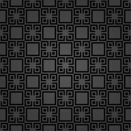 Seamless background for your designs. Modern vector ornament. Geometric abstract dark pattern  イラスト・ベクター素材